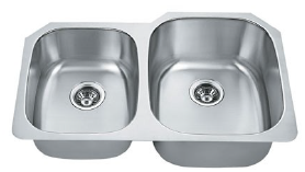 Double Kitchen Sink for Granite Countertop by Twin City Discount Granite